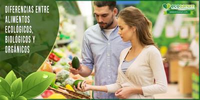diferencias alimentos ecológicos biológicos orgánicos